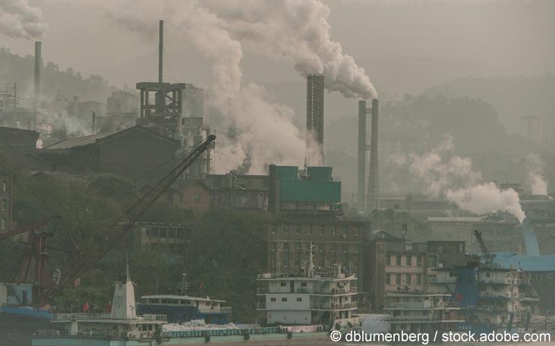 Luftverschmutzung Fabrik