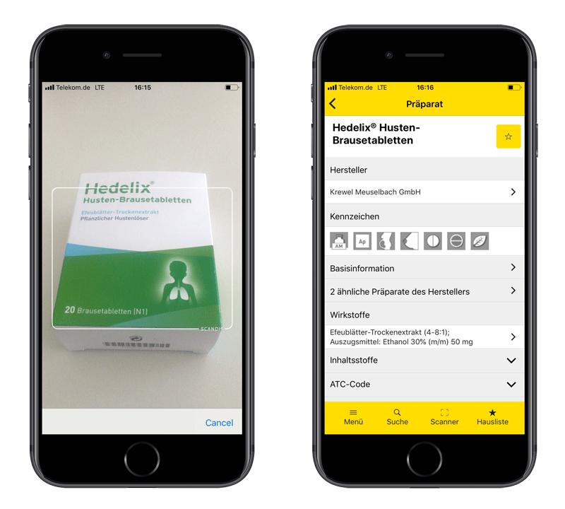 Gelbe Liste App Barcode Scanner