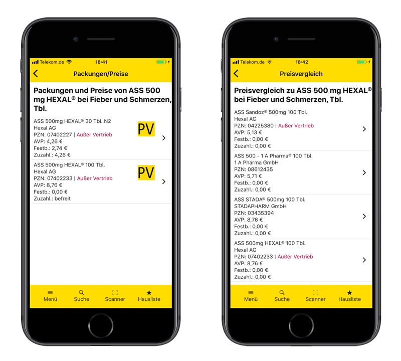 Gelbe Liste App Preisvergleich