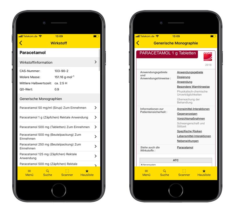 Gelbe Liste App Wirkstoffinformation