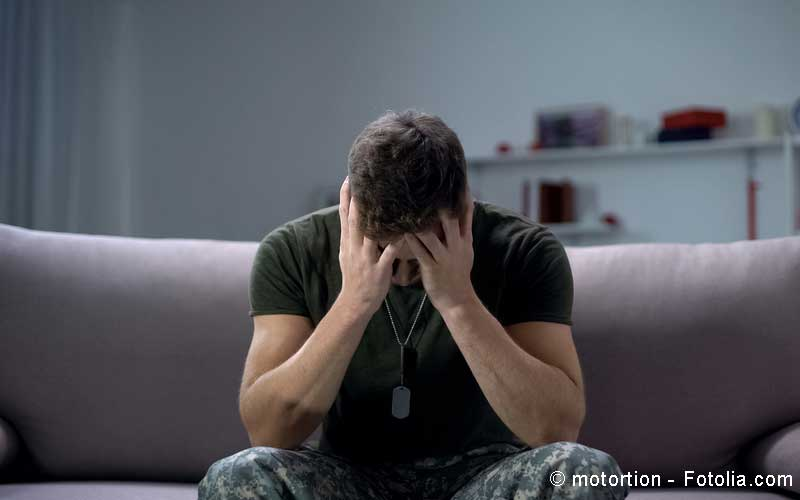 Depression junger Mann