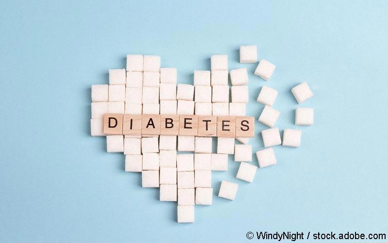 Diabetes-Zuckerherz