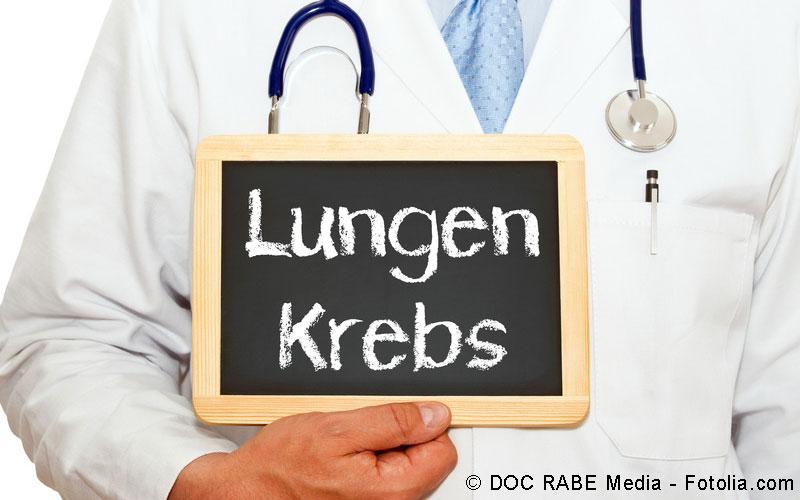 Lungenkrebs Schriftzug