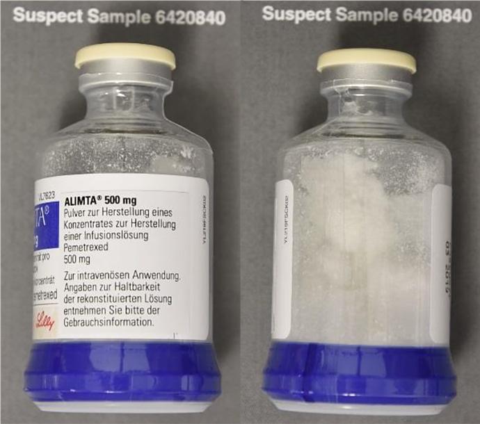 Alimta Fälschung Flasche - Abb. 2