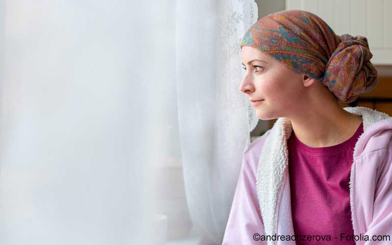 Junge Krebspatientin