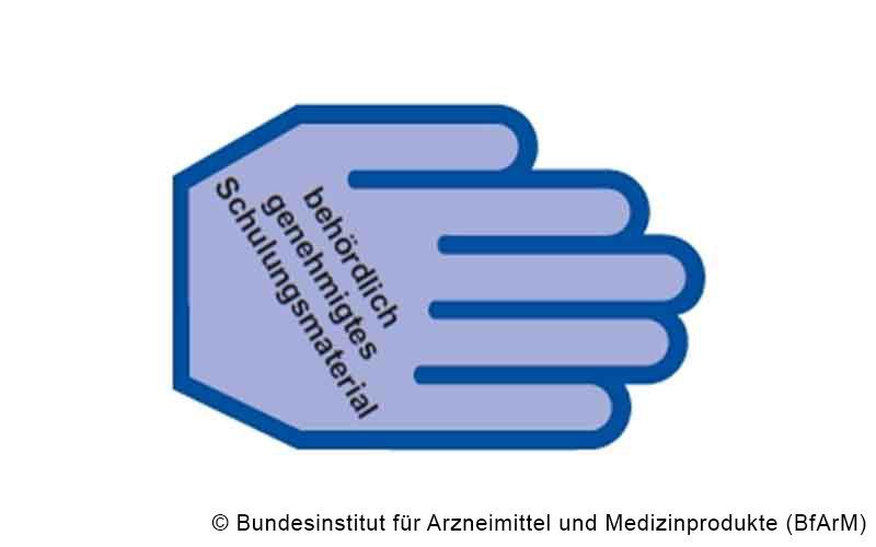 Blaue-Hand-Symbol